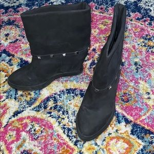 Black Bootie/Wedge